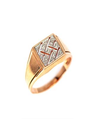Перстень мужской с бриллиантами