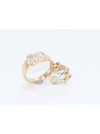 "Кольцо Кулон Золото 585"" Бриллианты Фианиты"