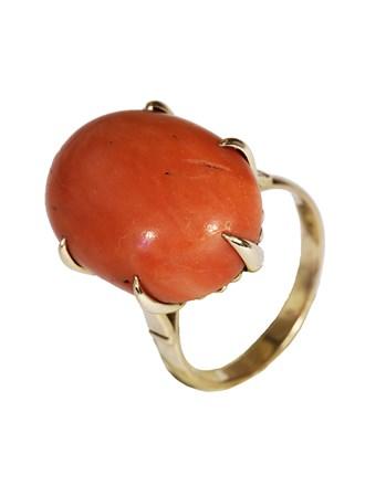 Кольцо Коралл - натур.