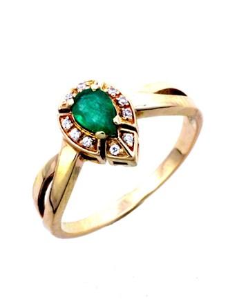 Кольцо Изумруд Фианиты