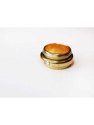 "Кольцо Золото 750"" с бриллиантом"