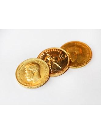 Три монеты золото 900