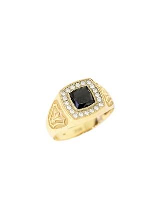"""Кольцо Золото 585"""" Оникс Фианиты"""