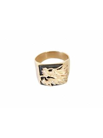 """Перстень Золото 585"""" Оникс Фианиты"""