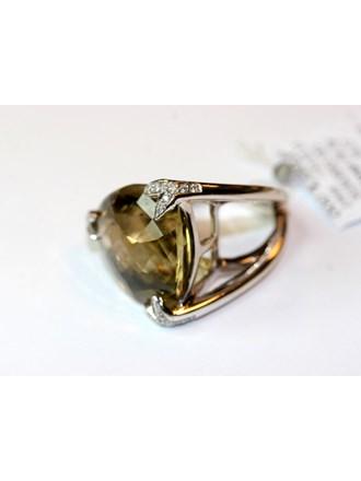 "Кольцо Золото 585"" Бриллианты Цитрин"