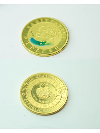 """Монета Стрелец. 2008 года Золото 900"""""""