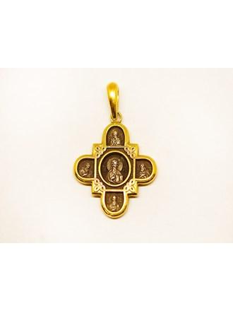 "Подвеска в виде креста Серебро 925"""