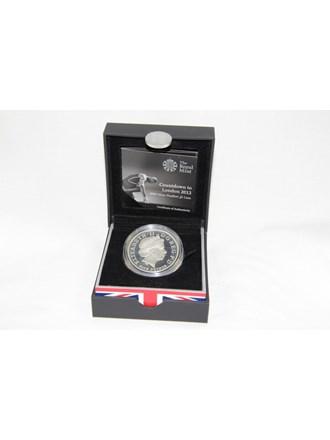 Монета 5 фунтов Серебро 925