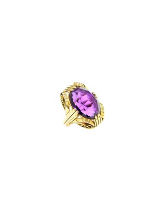 Кольцо c аметистом