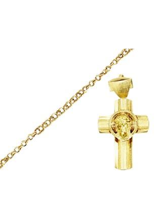 """Крест Браслет Золото 585"""""""