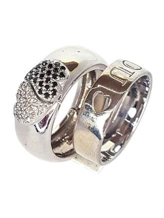 Кольцо двойное с бриллиантами