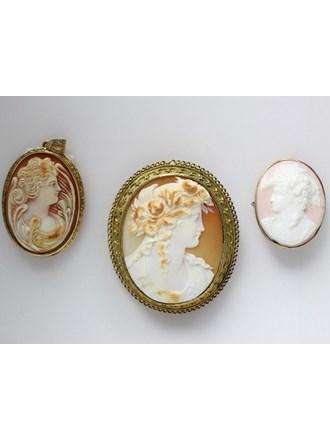Ювелирные украшения. Золото 500/585. Камеи