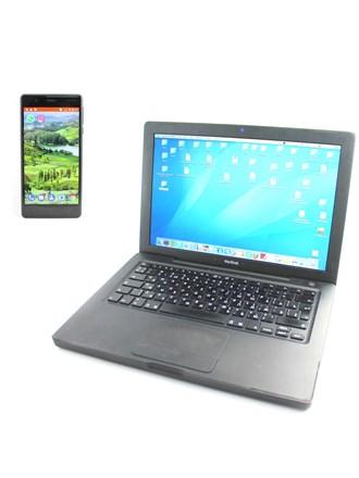 Apple MacBook и телефон Nokia 3