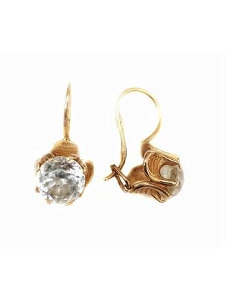 Золотые серьги с камнями