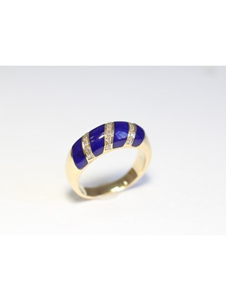 """Кольцо Золото 585"""" Бриллианты Эмаль"""