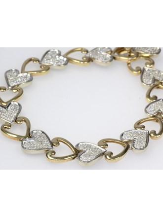 Браслет с бриллиантами Золото 585