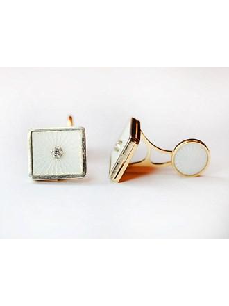 "Запонки Золото 585"" Бриллианты"