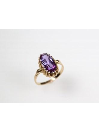 Кольцо с вставкой. Золото 585