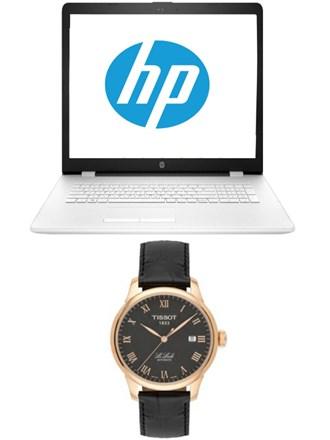 Ноутбук и часы