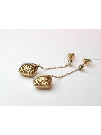 Пусеты Золото 585 Бриллианты