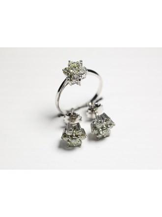 """Кольцо и серьги Бриллианты 2,00к. Золото 585"""""""