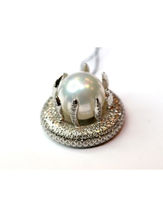Подвеска с бриллиантами и жемчугом, Золото 585*