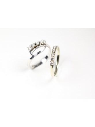 """Два кольца с бриллиантами Золото 585"""""""