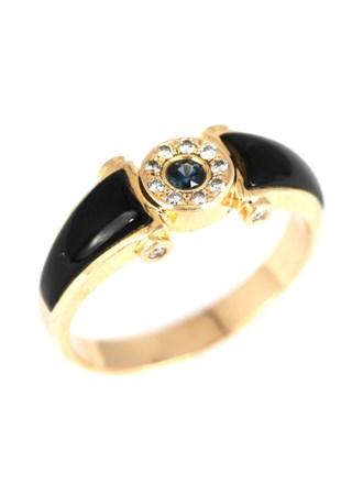 Перстень бриллианты, эмаль