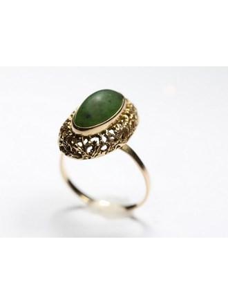 Кольцо Золото 583 Нефрит