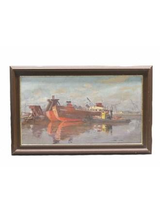 """Картина """"Морской порт"""" Масло Холст"""