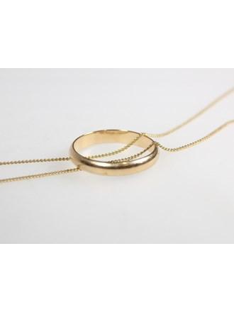 Цепь Кольцо Золото 585