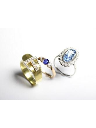 "Три кольца бриллианты золото 585"""