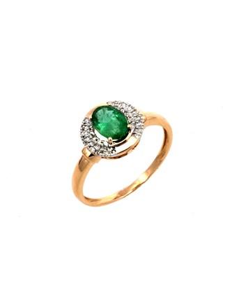 Кольцо Бриллианты Изумруд