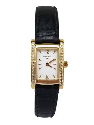 золотые часы Longines с бриллиантами