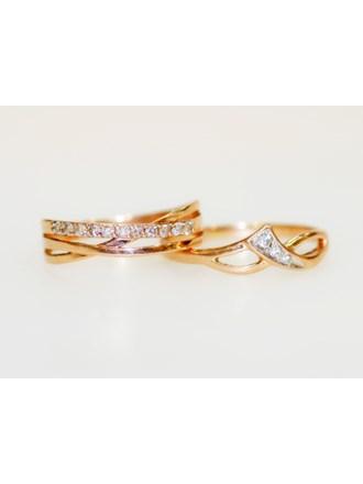 """Два Кольца Золото 585"""" Бриллианты Фианиты"""