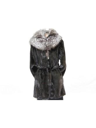 Шуба женская норка чернобурая лиса р48-50