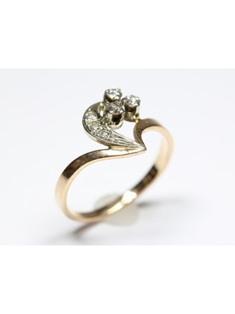 Кольцо Золото 583 Бриллианты