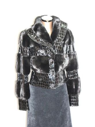 Куртка женская Норка Кожа лак