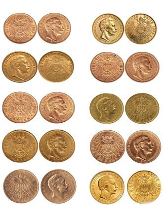 Золотые инвестиционные монеты Германской империи