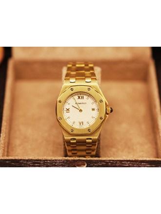Часы Женские AUDEMARS PIGUET ROYAL OAK 18K Yellow Gold Diamond Dial