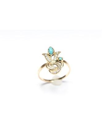 Кольца Золото 585 Бирюза