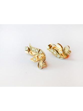 Серьги пара с бриллиантами золото 585
