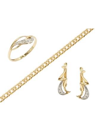 """Ювелирные украшения Золото 585"""" 375"""" Бриллианты Фианиты"""