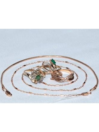 Ювелирные украшения Золото 585 Бриллианты