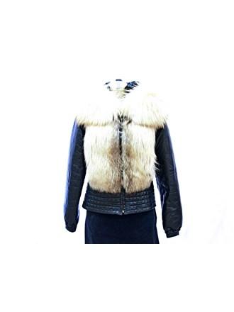 Куртка женская натуральный мех кожа 44-размер