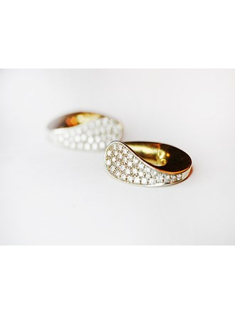 "Серьги пара с бриллиантами Золото 750"""