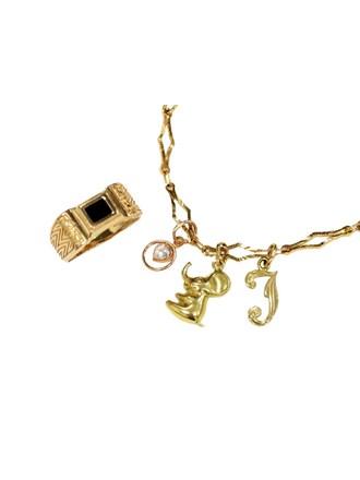 """Ювелирные украшения Золото 585"""" Оникс Фианит"""