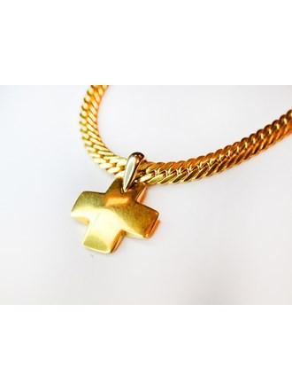 Крест на цепи золото 750