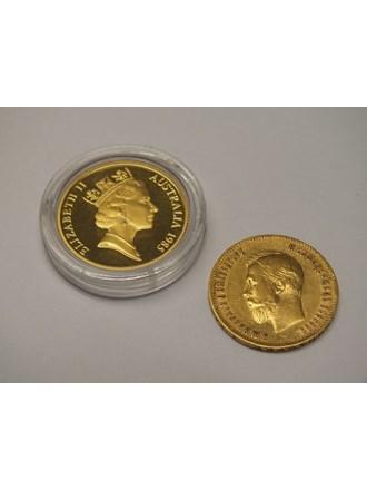 Две Монеты золото 900