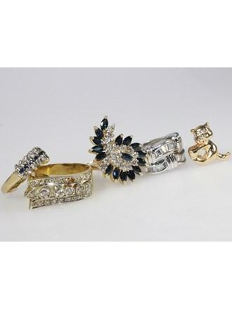 Ювелирные украшения Золото 585 Бриллианты, сапфиры